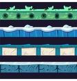 Water And Ice Platformer Level Floor Design Set vector image vector image