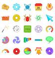 web button icons set cartoon style vector image vector image