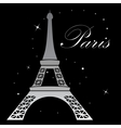 Eiffel Tower Night Landscape vector image