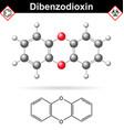 14- Dibenzodioxine polycyclic heterocyclic organic vector image vector image