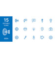 15 idea icons vector image vector image