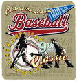 9th inning baseball champ vector image vector image