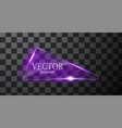 abstract neon triangle vector image vector image