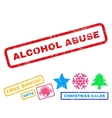Alcohol Abuse Rubber Stamp vector image vector image