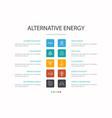alternative energy infographic 10 option concept vector image