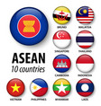 asean association of southeast asian nations vector image vector image
