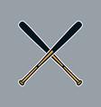 baseball bat cross x logo icon asset vector image