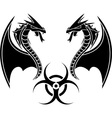 biohazard reptiles vector image vector image