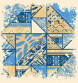 boho abstract blue frame vector image vector image