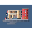 Book shop building vector image
