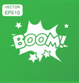 boom comic sound effects icon business concept vector image