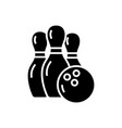bowling icon black sign on vector image vector image