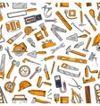 Building tool and equipment seamless pattern vector image vector image