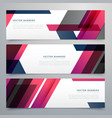 business banners set in geometric shapes vector image vector image
