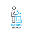 business speaker concept outline icon linear vector image vector image