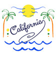 california hand drawn lettering vector image vector image