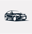 Car symbol logo template stylized silhouette