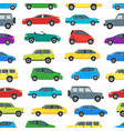 cartoon cars background pattern on a white vector image vector image