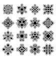 celtic trinity ancient geometrical symbols vector image