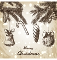Christmas hand drawn vector image vector image