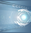 Circular abstract spaceship vector image