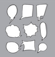 collection hand drawn speech bubbles doodle vector image vector image