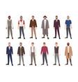 collection of handsome men dressed in elegant vector image