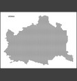 dotted map capital city vienna vector image vector image