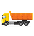 dump truck isolated on white vector image vector image