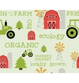 Eco and organic seamless pattern Farmer s market vector image vector image