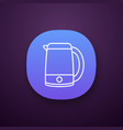 electric kettle app icon vector image