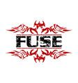 fuse letter logo design template vector image vector image