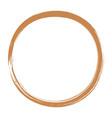 golden enso zen circle brush vector image