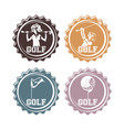 golf players seals stamps vector image