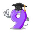 graduation number nine athletics the shaped vector image