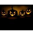 Grinning Halloween lantern vector image vector image