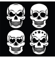 Halloween human skull white design - death vector image vector image
