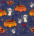 halloween seamless background vector image vector image