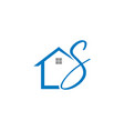 home initial letter s logo design vector image vector image