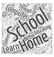 Home Schooling and Computer Learning Word Cloud vector image vector image