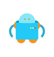 humanoid of blue color closeup vector image