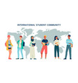 international students community young people flat vector image vector image