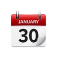 January 30 flat daily calendar icon Date vector image vector image