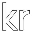 krone of denmark danish krone icon black color vector image