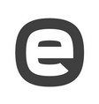 letter e flat web icon or sign isolated on white vector image vector image