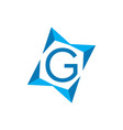 letter g logo icon vector image vector image