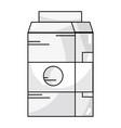 line delicious milk box with nutrients ingredients vector image vector image