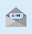 love message letter greeting graphic vector image vector image