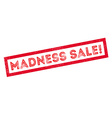Madness Sale rubber stamp vector image vector image