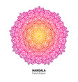 mandala flower drawing ethnic colorful vector image vector image